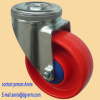 medium duty PP swivel caster with round top bolt hole