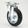 8 inches swivel head rubber wheel garbage container casters