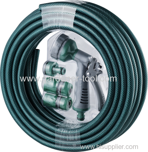 Outdoor Water Hose Pipe With Spray Gun Set