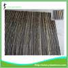 Natural Bamboo Black Pole Fence