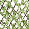 Eco Friendly Garden Trellis Fencing Panels With Landscaping Plastic Leaf