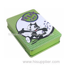 novelty book shaped DVD tin case