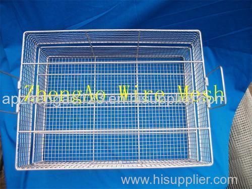 metal wire mesh cleaning basket medical cleaning basket