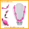 Silicone bead necklace DIY by customer