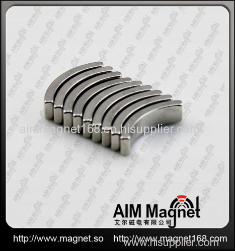 Strong arc shaped ndfeb magnet