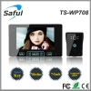 2014 newest distinctive 7 inch 2.4GHz digital apartment wireless video door phone intercom system