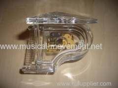 ACRYLIC TRANSPARENT MINI PIANO MUSIC BOX