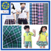 checked fabric for students' uniform dyed fabric