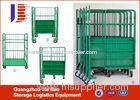 Industrial Transportation Moving Roller Container Wire Mesh Trolley