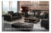 Leather sofa upholstery leather sofa set black leather sofas wooden living room furniture TI-003