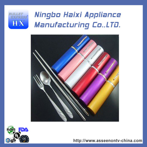 Silver portable tableware stainless steel chopsticks