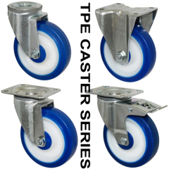 TPE casters with ball bearing