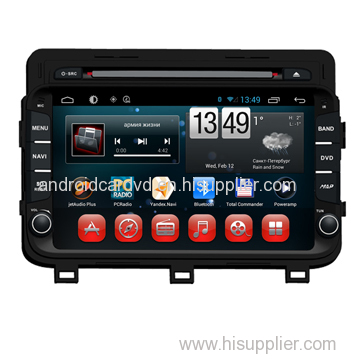 Wholesale 8-inch Panel Auto Multimedia KIA K5 2014 / Optima Touch Screen Car Dvd Player Pure Android System