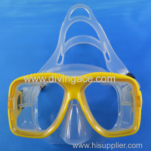 Professional wholesale silicone diving mask/diving goggles