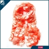 Printed polyester scarf with flowers * HEFT scarves and shawls