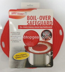 Silicone boil-over safeguard silicone spill stopper lid