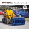 Backhoe loader mini loader 1.5ton KUBOTA engine skid steer loader mini loader different sttachments available