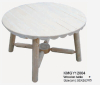 Wooden round outdoor table