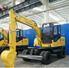 china cheap price wheel excavator