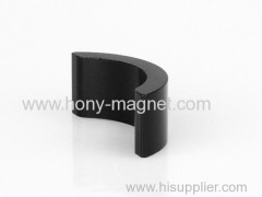 Black epoxy coating bonded neodymium half ring magnet
