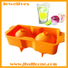 silicone ice ball mold with 2 cavities