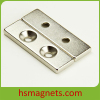 Rare Earth NdFeB Countersunk Block Magnet For Sale