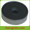 Customized Countersunk Pot Hard Ferrite / Ceramic Magnet