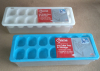 Plastic ice cube tray with storage bottom