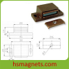 Brown Permanent Magnet Magnetic Door Stopper Catcher