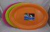 Plastic large oval serving tray 52x37cm colors