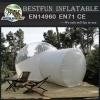 Camping inflatable clear tent with natural material