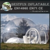 Giant advertising inflatable bubble tent for business event