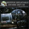 Hard-wearing quality dome inflatable clear tent