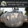 Inflatable bubble tent with 2 tunnels