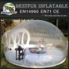 Inflatable transparent bubble tent for exhibition