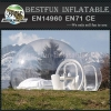 Inflatable transparent tent with clear wall around