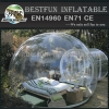 Totally see-through bubble inflatable clear tent