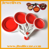 4pcs collapsible silicone measuring cup