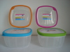 Plastic food storage container TPR seal square 2L