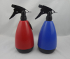 Plastic double wall water spray bottle for garden