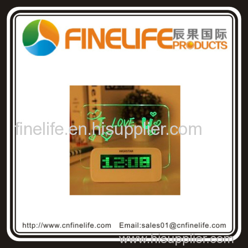 Fluorescence USB clock electronic alarm clock colorful