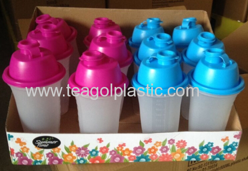 Protein shaker bottle 500ml plastic in display box packing