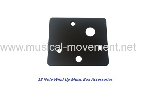 SQUARE PLASTIC BASE FOR 18 NOTE WIND UP MUSIC BOX ACCESSORIES
