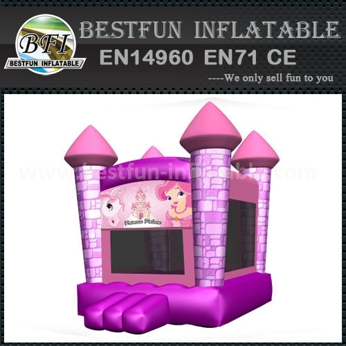 Princess castle moonwalk inflatable kids bouncer