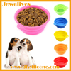 Silicone folding dog bowls round shape