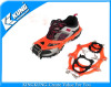 Anti-slip climbing crampons on shoes