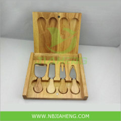 Wooden Cheese Board with Knives Cheese Cutter Tools