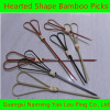 Heart-Shape Bamboo craft skewer picks/Loop Picks/Beaded &Acrylic Bamboo Food Picks