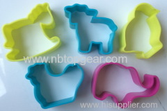 5pcs animals plastic PP cookie mould biscuit cutter