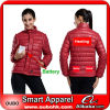 Women Down Jacket With Battery System Electric Heating Clothing Warm OUBOHK